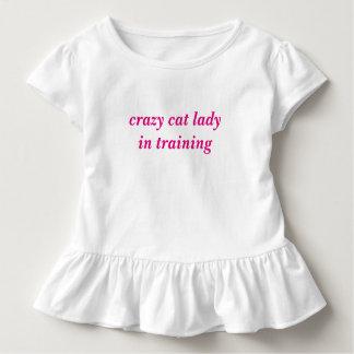 crazy Ccat lady in training Girls Tshirt Tutu CUTE