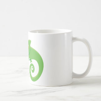 Crazy chameleon lady coffee mug