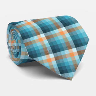 Crazy Check Plaid Single-Sided Tie