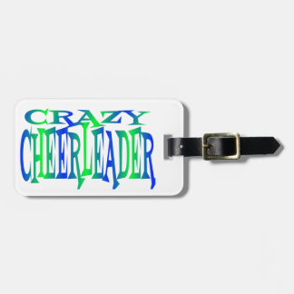Crazy Cheerleader Luggage Tag