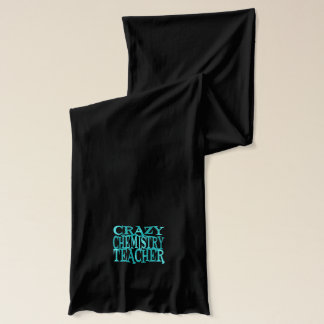Crazy Chemistry Teacher in Teal Scarf