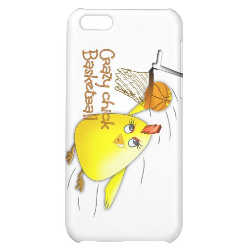 crazy chick basketball iPhone 5C cover
