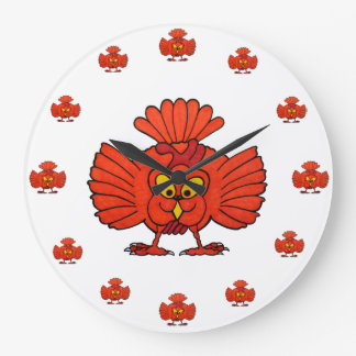 Crazy Chick Large Round Clock