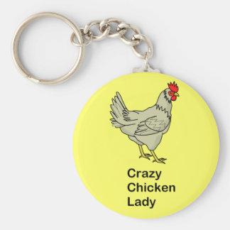 Crazy Chicken Lady Keychain