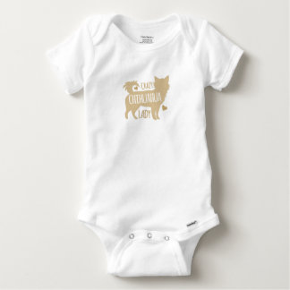 crazy chihuahua lady baby onesie