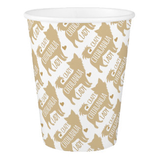 crazy chihuahua lady paper cup