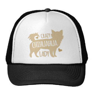 crazy chihuahua lady trucker hat