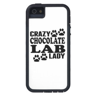 Crazy Chocolate Lab Lady iPhone 5 Cases