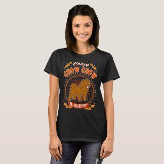 Crazy Chow Chow Dog Lady Tshirt