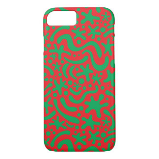 Crazy Christmas Blob and Squiggle Pattern iPhone 8/7 Case
