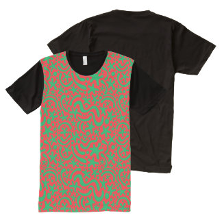 Crazy Christmas Blob & Squiggle All-Over-Print T-Shirt