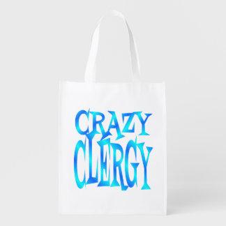 Crazy Clergy Reusable Grocery Bag