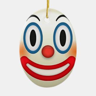 Crazy Clown Emoji Ceramic Ornament