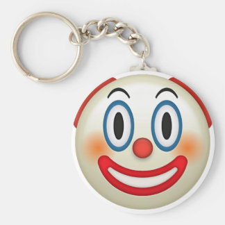 Crazy Clown Emoji Keychain