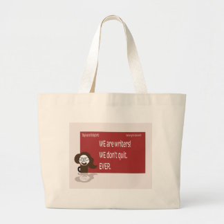 Crazy Coffee Writer Style Large Tote Bag