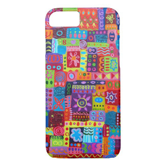Crazy Color Pattern iPhone 7 Case