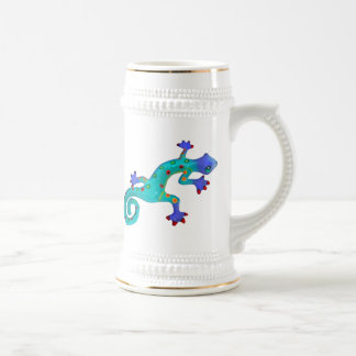 Crazy Colorful Lizard Beer Stein