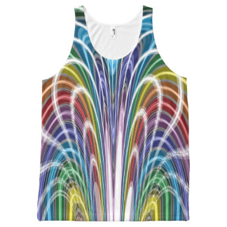 Crazy Colors All-Over-Print Tank Top