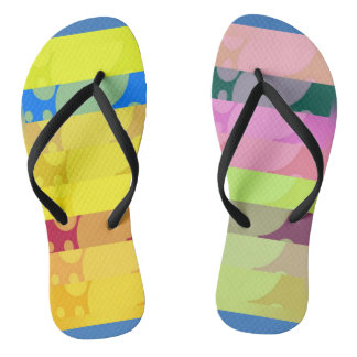Crazy colors flip flops