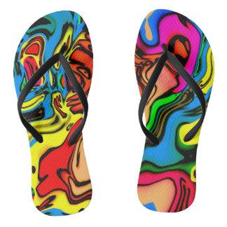 Crazy Colors Flip Flops