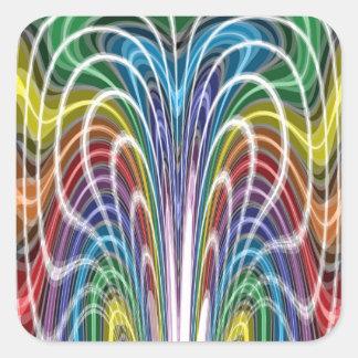 Crazy Colors Square Sticker