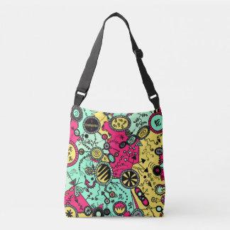 Crazy Colour Doodle Crossbody Bag