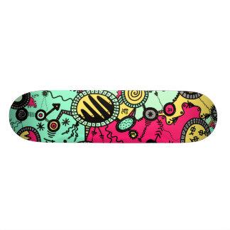 Crazy Colour Doodle Skateboard Deck