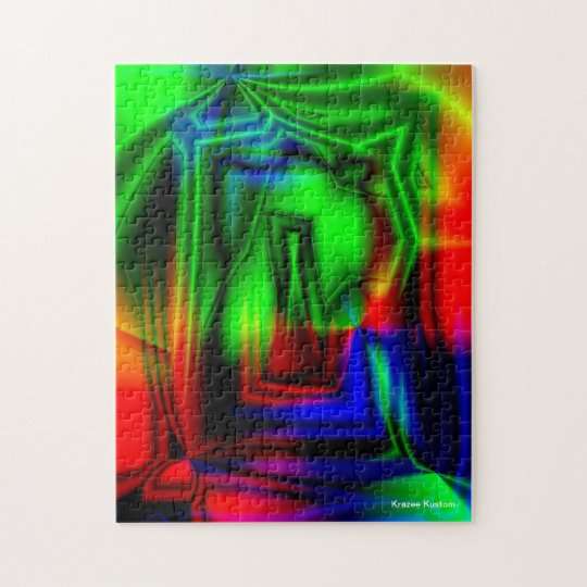 Crazy Colourful Jigsaw Puzzle