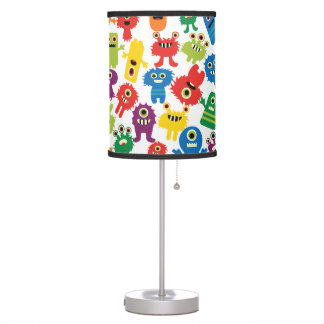 Crazy Colourful Monsters Kids Table Lamp