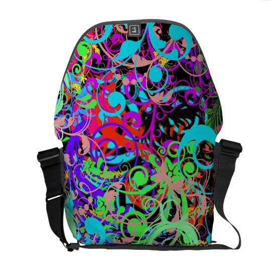 Crazy colourful pattern Rickshaw Messenger Bag