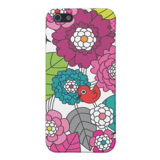 Crazy colourfull flowers and birds pattern iphone iPhone 5 cover