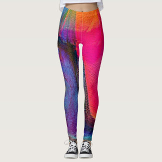 Crazy Colours Abstract Art Women's Leggings