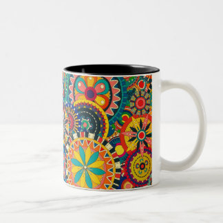 Crazy colours coffee mug