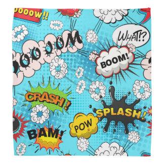 crazy comic book pattern bandana