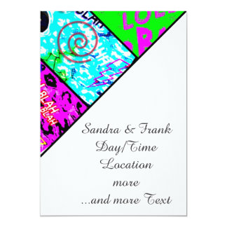 crazy comic 5x7 paper invitation card