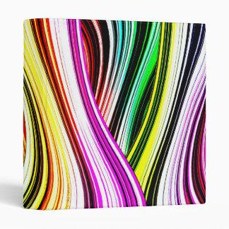 Crazy Cool Colorful Lines Vinyl Binders