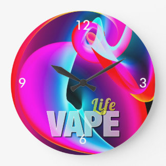 Crazy Cool Vape Cloud Large Clock