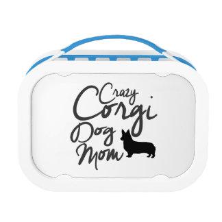 Crazy Corgi Dog Mom Lunch Box