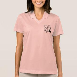Crazy Corgi Dog Mom Polo Shirt