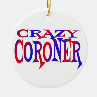 Crazy Coroner Double-Sided Ceramic Round Christmas Ornament