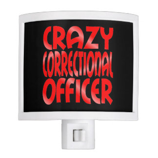 Crazy Correctional Officer in Red Nite Light