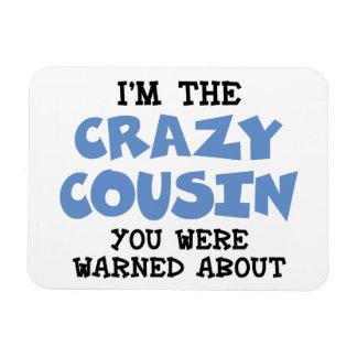 Crazy Cousin Humorous Family Fun Rectangular Photo Magnet