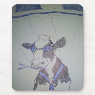 Crazy cow mouse pad