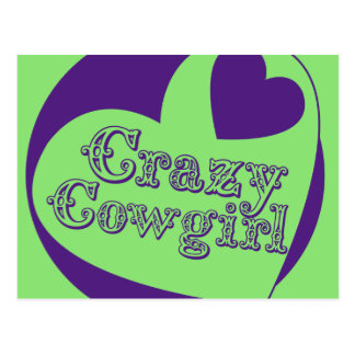 Crazy Cowgirl Postcard