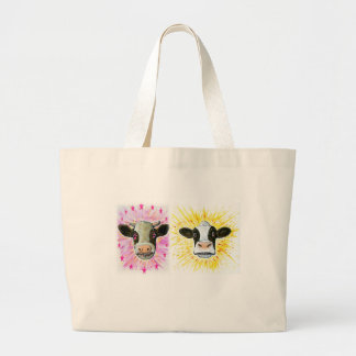 Crazy Cows Large Tote Bag