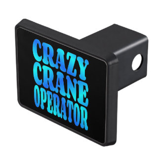 Crazy Crane Operator Trailer Hitch Cover