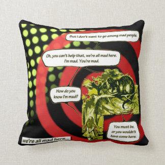 Crazy, Crazy, Crazy by Aleta Throw Pillow