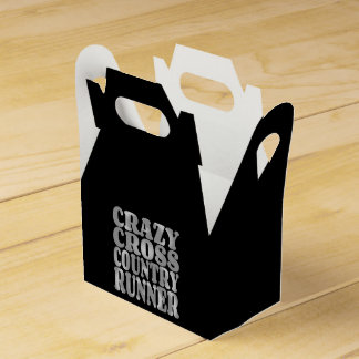 Crazy Cross Country Runner in Silver Favor Box