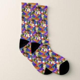 Crazy Cross Eyed Planarian Socks