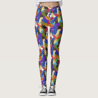 Crazy Cross Eyed Planarian Worm All Over Print Leggings